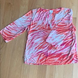 Chicos patterned 3/4 sleeve